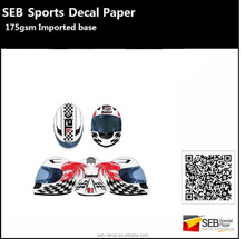 sports equipment decals for helmets/snowboard/bicycle
