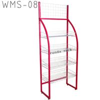 metal basket potato chip rack hl-w029 chewing gum chocolate bar display stand
