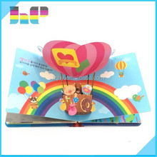 Hot selling top quality pop up children colorful book printing