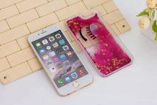 2015 New design 3D Big Eyes Eyelashes back cover for iphone 6 liquid glitter star case alibaba china