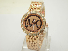 stainless steel watch with rhinestones vogue watch MK fashion watch for women