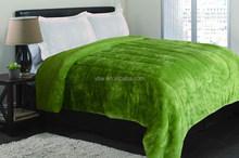 Fresh Ur Mind Ligh Green Mink Blanket 2 Layers Quilt