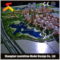 Hot selling 3D maqutte miniature scale block model for real estate with beautiful landscape