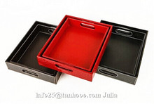 Hotel dedicated high-quality leather/PU tray, beverage tray