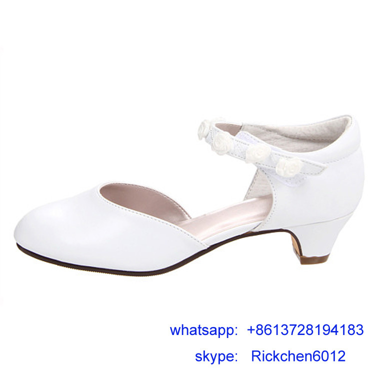 China shoe supplier kids high heel shoes girls dress shoes sweet sandal
