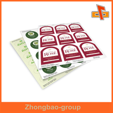 Guangzhou factory wholesale printing and packaging glossy or matte finish custom sticky paper material a4 sticker label