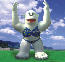2015 hot sale giant inflatable animal for advertising, inflatable Lady Beach Gorilla