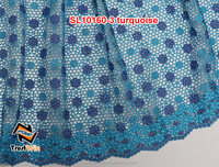 Star pattern top quality heavy cord lace fabric SL10160