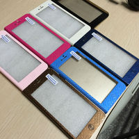 12pcs/ pack 5.5 INCH free sample Newest wholesale standable PU Leather Mobile Phone Case for Iphone 6 with slots pocket
