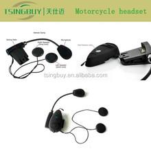 Waterproof motorcycle bluetooth helmet headset with intercom system