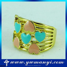 Heart Shape 925 Sterling Silver two color heart Setting silver ring for lover Wholesale