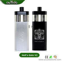 Hell's gate V2 mechanical box mod ,Black/Silver, dual Rda atomizers with huge vapor