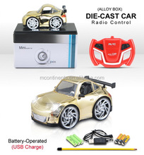 R/C 4ch Q version of the gold plated alloy car with light Radio Control Toy