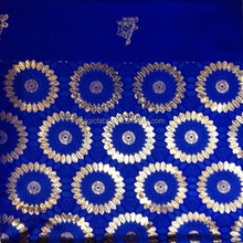 Royal blue and gold african Gele Fabric Gele Wholesale regular African Headtie