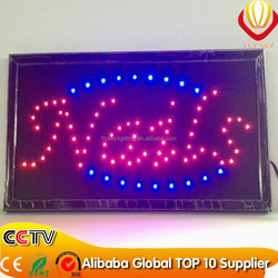 BAR/COFFEE/HAIR CUT/NAILS/SALES shops advertising square/oval 10*19 inch led open sign