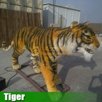 Tiger/Lion Life Size Outdoor use with fur Simulation Tiger for sale