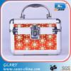 Aluminum antique but deluxe portable cosmetic case