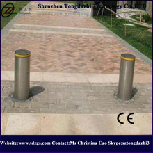 Stainless steel hydraulic & retractable bollards for park lots