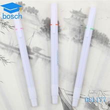 Advertising product white plastic pens with highlight