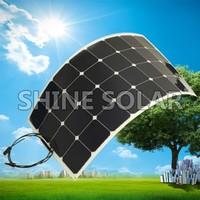 High efficiency Sunpower Solar Panels,18W 30W 50W 90W 100W 120W 150W 180W Semi Flexible Solar Panel,Marine Flexible Solar Panels
