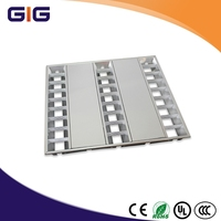 grille lamp aluminum louver fitting