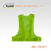 Fluorescent Green LED Reflective Mesh Safety Running Vest Led Running Belt