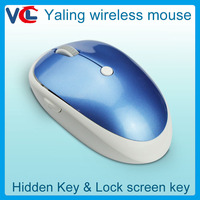 Newest 2.4G wireless optical mouse with mute function and show desktop function