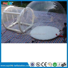 High quality outdoor camping inflatable clear dome tent for sale
