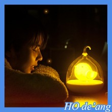 HOGIFT cool design night light bird in cage Touch switch birthday gift