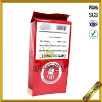 stand up coffee laminated aluminium foil pouch