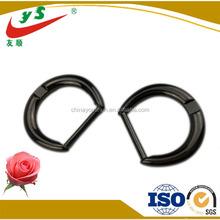 Gun black plated metal zipper puller bag accessories