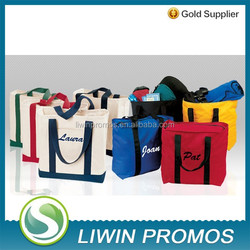 """Natural Canvas Convention Tote Bag with Shoulder Strap - Blank (15""""x16"""")"""