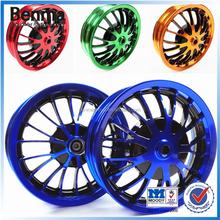 Motorcycle parts designed aluminum alloy wheel , 18 spokes motorcycle wheel rims