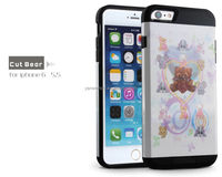 Two Layers Soft TPU+Hard PC High Impact Hard Back Case Protective Cover Fit for iphone6 plus 5.5