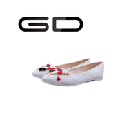 GD novelty metal decoration fashion casual flat shoes for young ladies