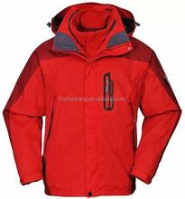 waterproof windproof men 3 in 1 jacket with polar fleece inner jacket