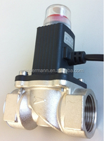 Electric gas automatic emergency shut off valve