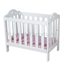 49X29.5X(H)44cm E1 MDF Pure White 18 Inches American Girl Doll Crib, Wooden Educationa Toy For Wholesale, Children Wooden Toy