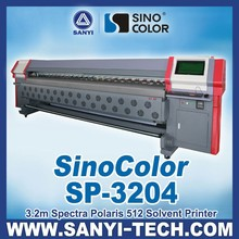 3.2m Spectra Polaris PQ512 Heads Large Format Solvent Printer For Outdoor Printing, 92sqm/h