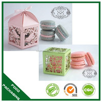 cheap paper box for cake packaging,Art Macaron Paper box,food packaging french macaron boxes