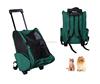 Detachable pet dog backpack with wheels pet luggage dog cat travel carrier