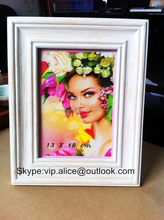 13x18 chic shabby vintage wooden photo frame with hot sexy girl picture
