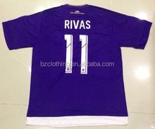 La ciudad de orlando #11 rivas mejor calidad de tailandia de color púrpura de camisetas de fútbol