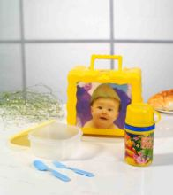 Lunch Container With Bottle and Sandwich Box