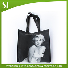 grocery non woven shopping bagglossy laminated tote bag