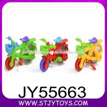 Mini moto de juguete de colores de plástico para la promoción