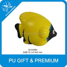 pu tropical fish stress balls yellow