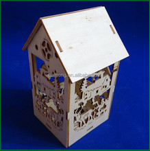Wooden Ornaments Mini House For Christmas Decoration