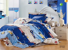 customized cotton yarn printed boy kids car personalized children duvet covers fitted sheet