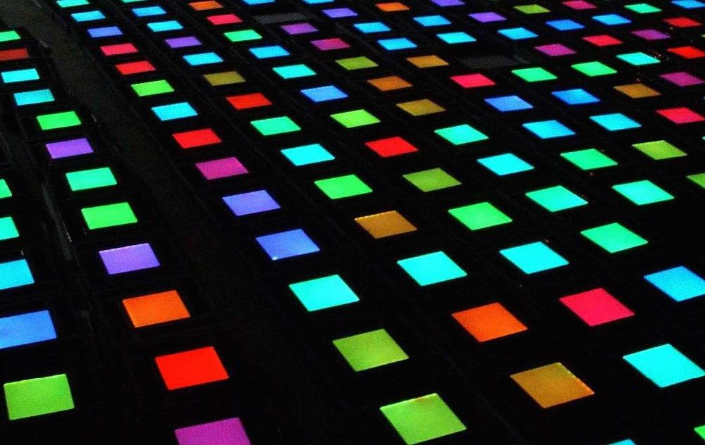 application of led tile light full color